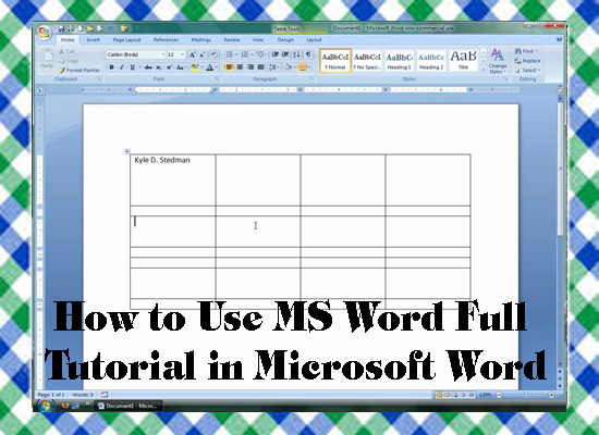 How to Use MS Word Full Tutorial in Microsoft Word