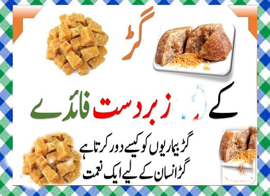 Gur Khane Ke Fayde in Urdu