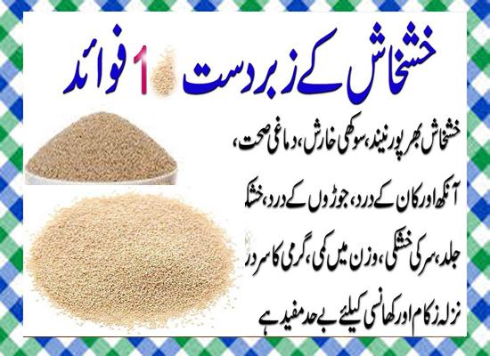 Khashkhash Khane Ke 10 Fayde in Urdu