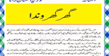 Ghar Aur Gharonda Urdu Novel by Fozia Ehsan Rana Feudal Download