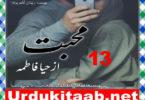 Mohabbat Urdu Novel By Haya Fatima Episode 13 Download