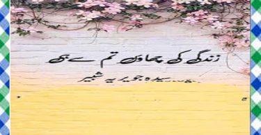 Zindagi Ki Chao Tum Se Hi Urdu Novel By Syeda Jaweria Shabbir Download