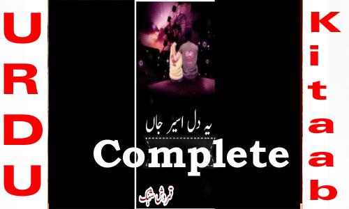 Yeh Dil Aseer e Jaan Complete Urdu Novel